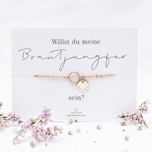 Armband mit Spruchkarte Willst du meine Brautjungfer sein
