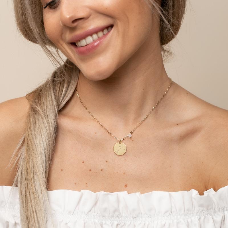 Sternzeichen Halskette mit Geburtsstein