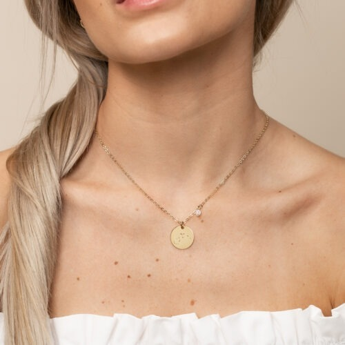 Halskette mit Konstellation und Geburtsstein