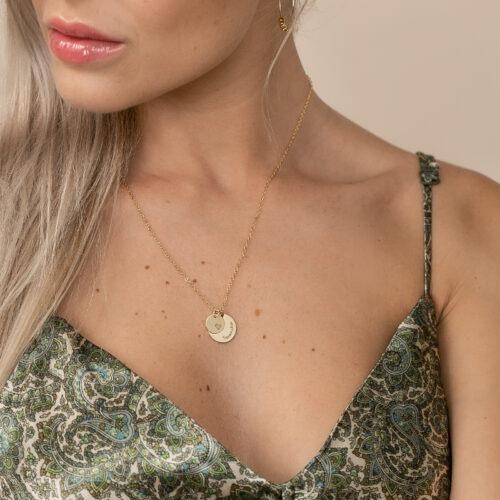 Halskette personalisiert mit zwei Gravur Anhängern