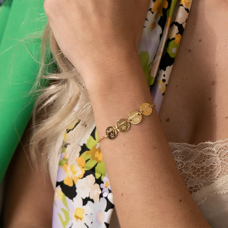 Armband für Damen mit 4 Gravurplättchen