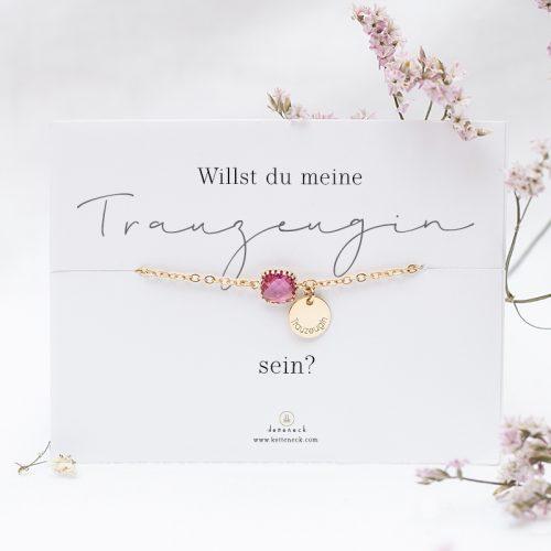 Armband zur Hochzeit für deine Trauzeugin mit Karte