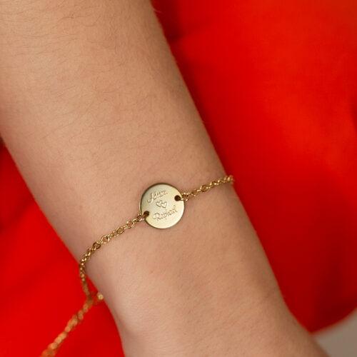 Armband mit großer personalisierbarer Platte