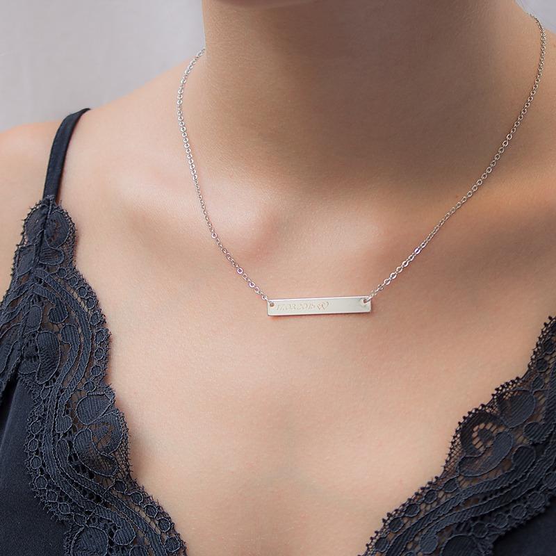 Gravur Barren Halskette