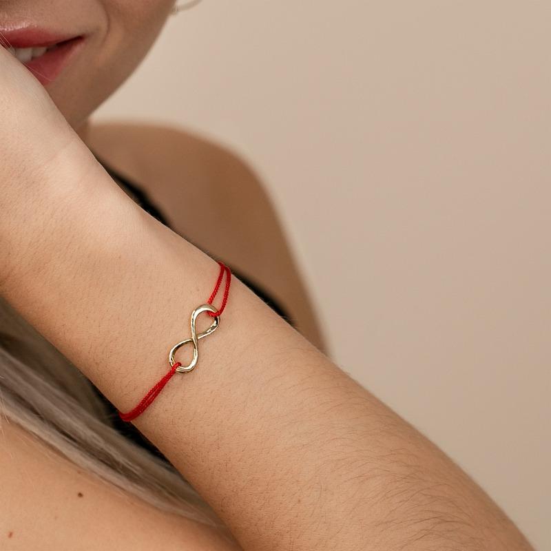 Unendlichkeits Armband mit Infinity Symbol auf Nylonband
