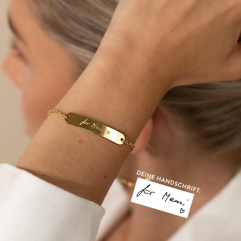 Wunschgravur Armband mit Handschrift