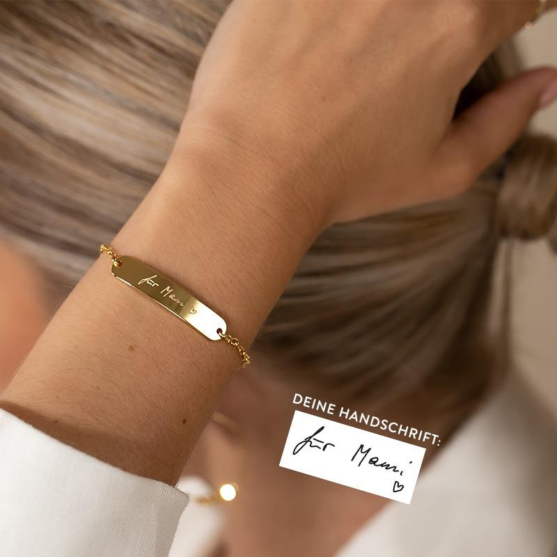 Eigene Handschrift Armband vergoldet versilbert
