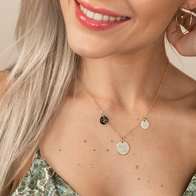 Halskette mit drei gravierten Platten personalisiert