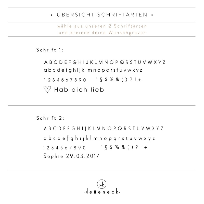 Liste Schrift Schriftarten