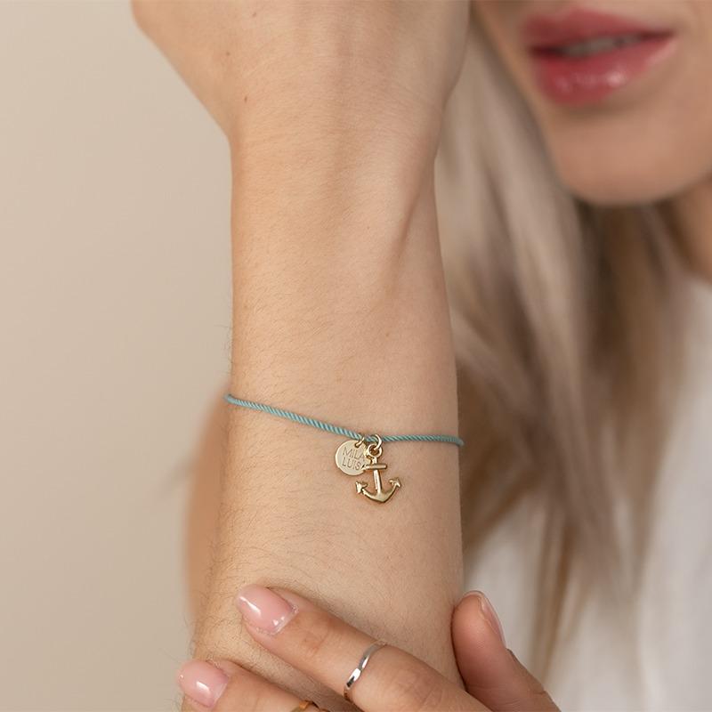 Armband für Damen mit Anker Anhäner und personalisiertem Ring