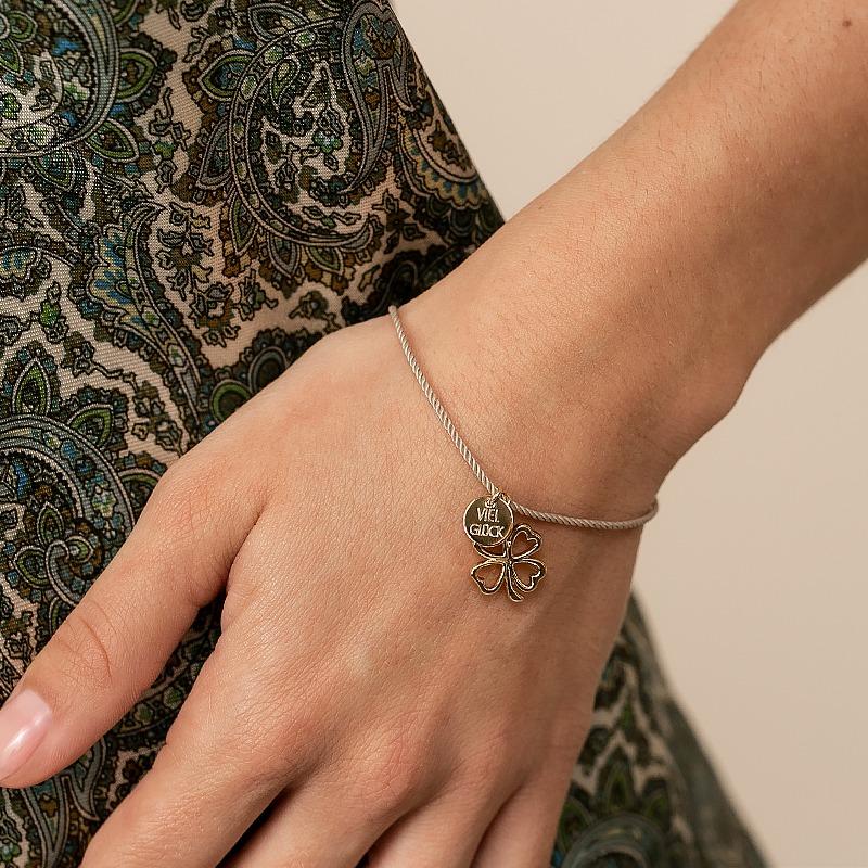Glücksbringer Armband mit Kleeblatt und personalisiert