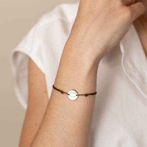 Armband Damen gold mit Gravur und Namen