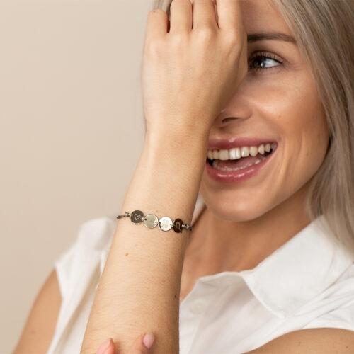 Armband personalisierbar mit vier Gravur Anhängern