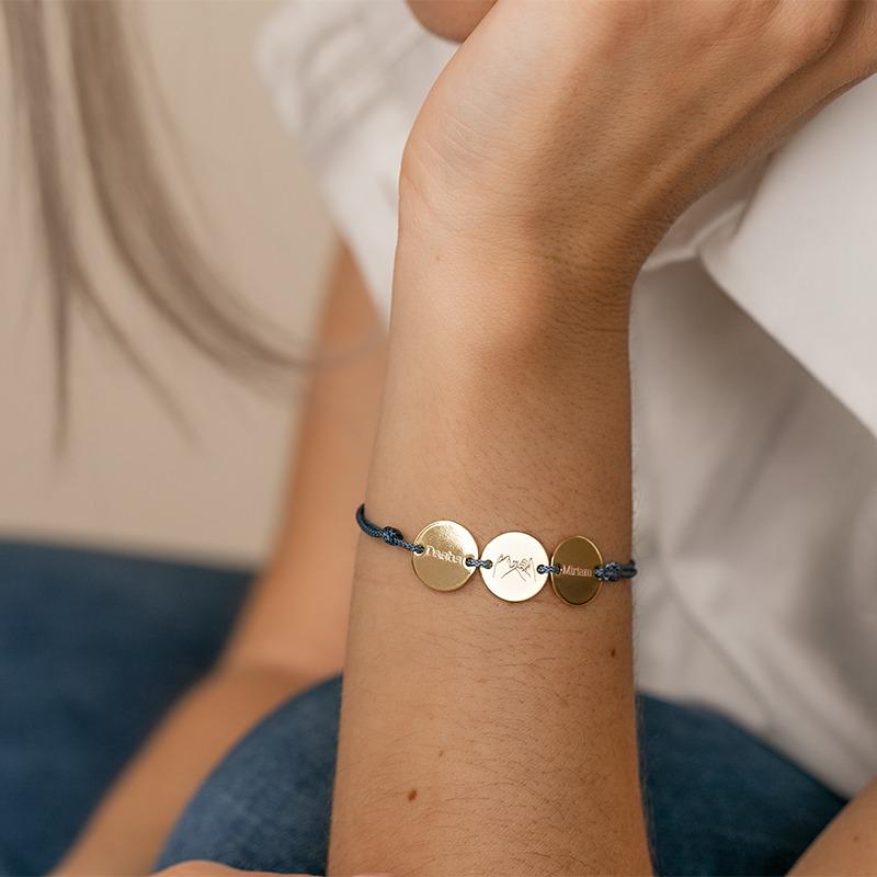 Personalisiertes Armband mit drei Gravurplatten