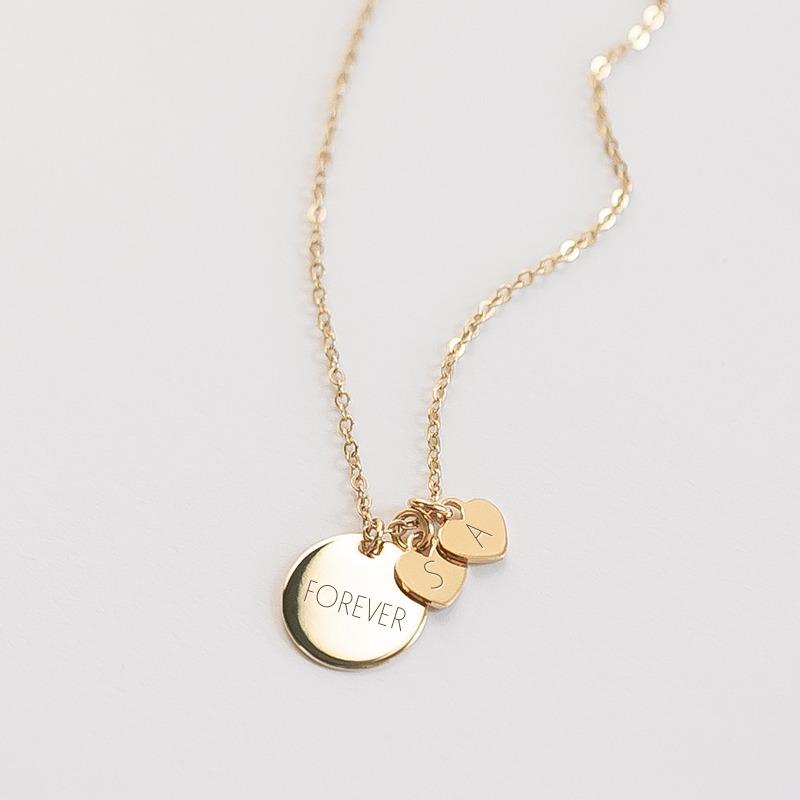 Wunderschöne Namenskette mit personalisierbaren Herzen als Anhänger gold oder silber