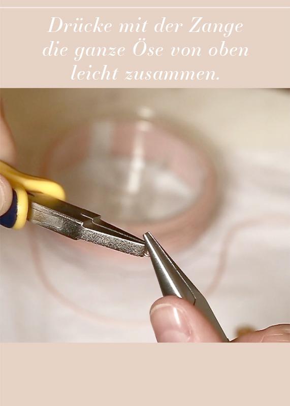 Verbindungsring ist leicht selbst zu reparieren, hier die Öse