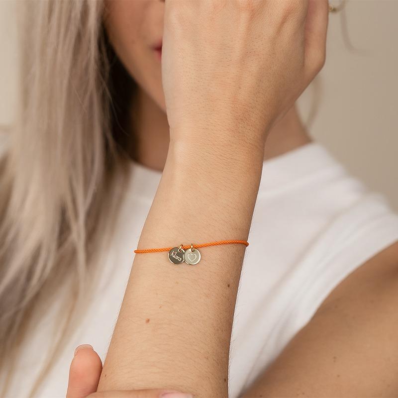 Damenarmband gold personalisiert mit Anhängern