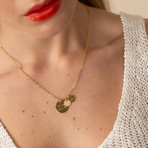 Schmuck mit Namen Halskette mit Schrift und Wunschtext