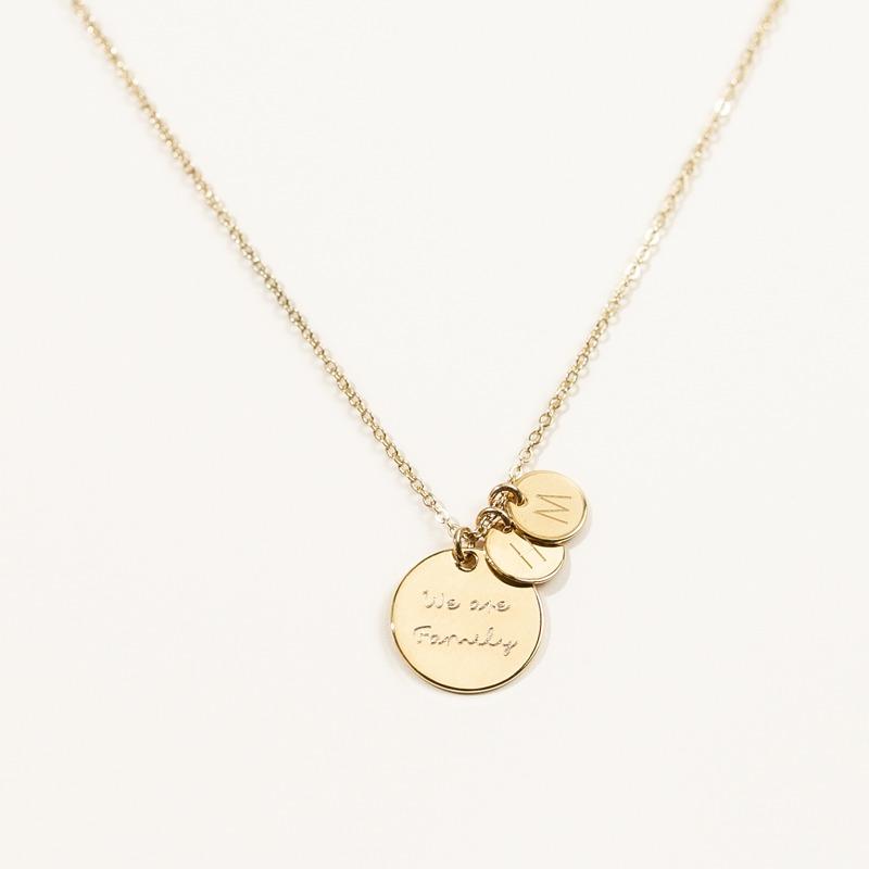 Halskette vergoldet oder versilbert mit personalisierten Anhängern