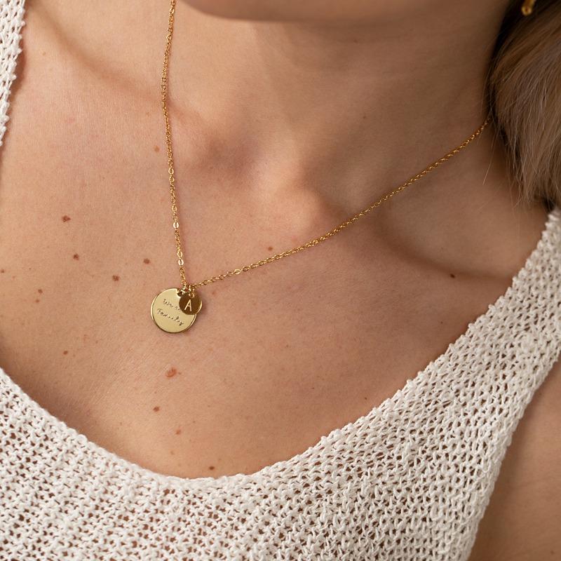 Zwei Gravurplatten Halskette mit personalisierter Gravur