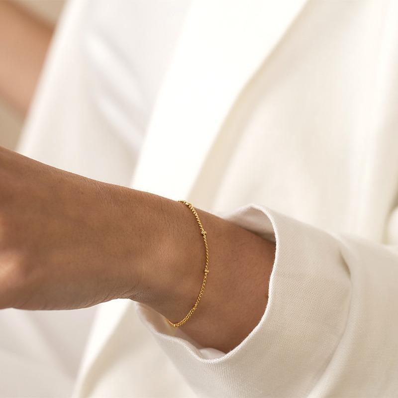 Zartes Kugelkette Armband in Gold