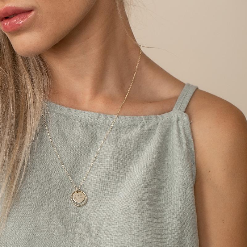 Personalisierte Halskette Gold oder Silber