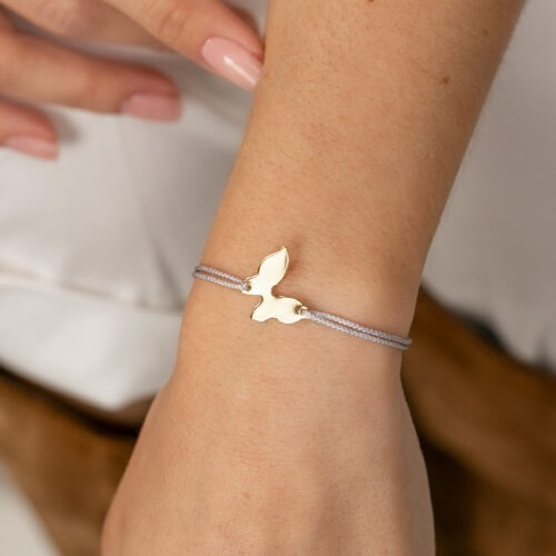 Armband mit Schmetterling Symbol auf Nylonband