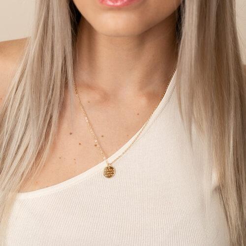 Halskette mit Schrift Love you sis