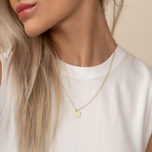 Halskette mit Schriftzug Mama hab dich lieb