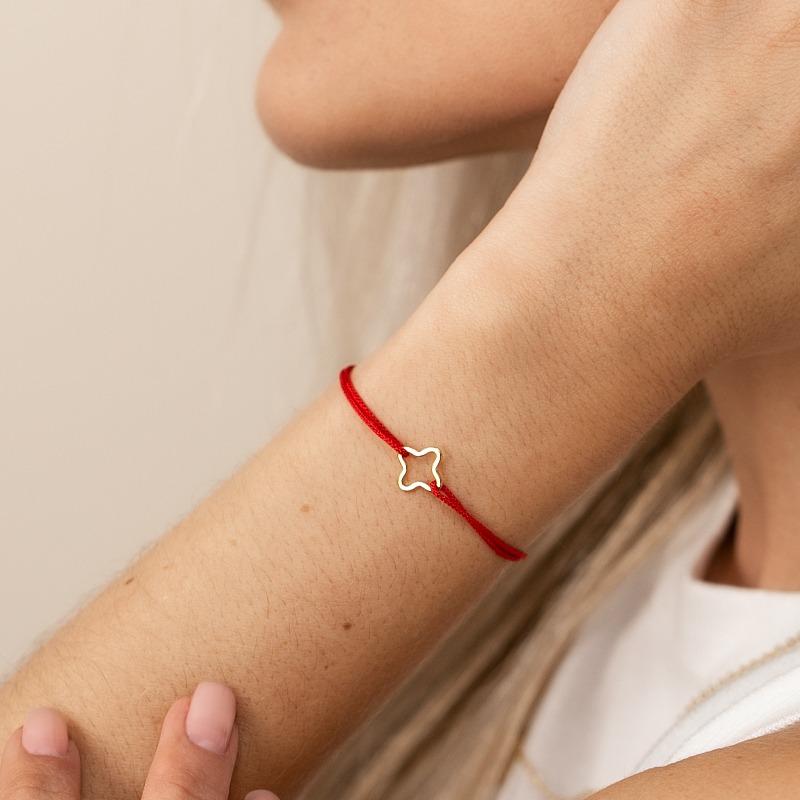 Armband Sternmotiv Nylonband gold silber
